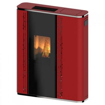 Estufa de pellets Santorini rojo