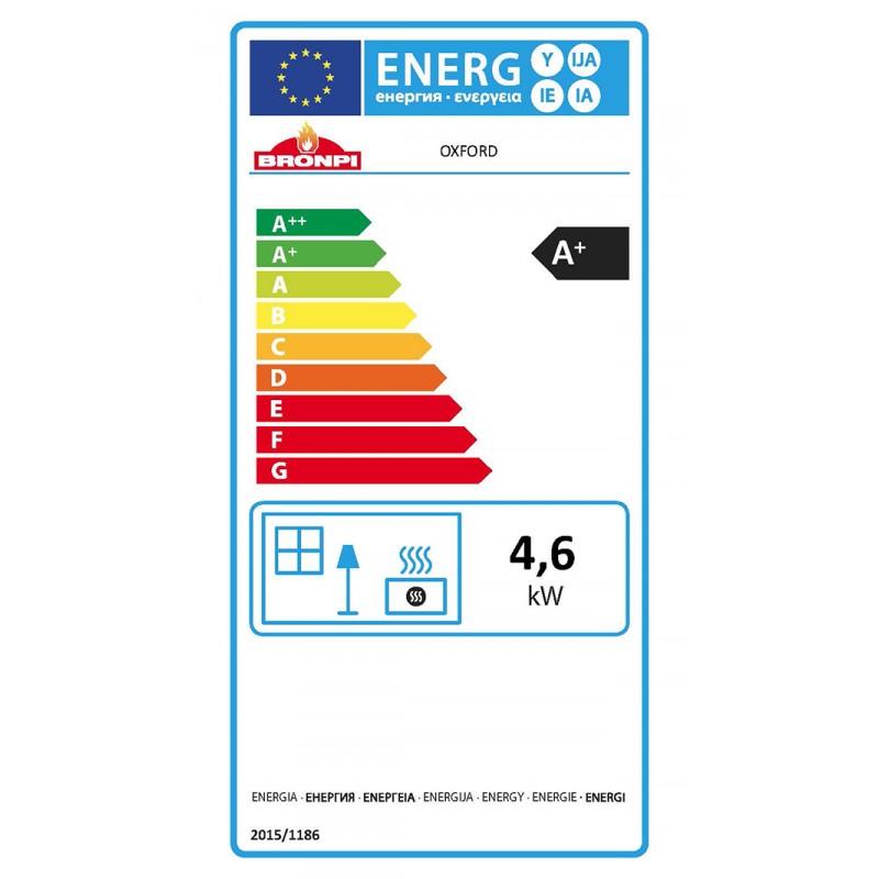 Certificado energético estufa de leña Oxford