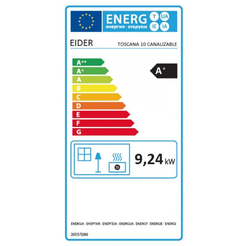 Energ Estufa Pellets T10 Wood canalizada