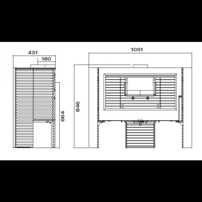 Estufa de Leña Itaya - Plano Medidas