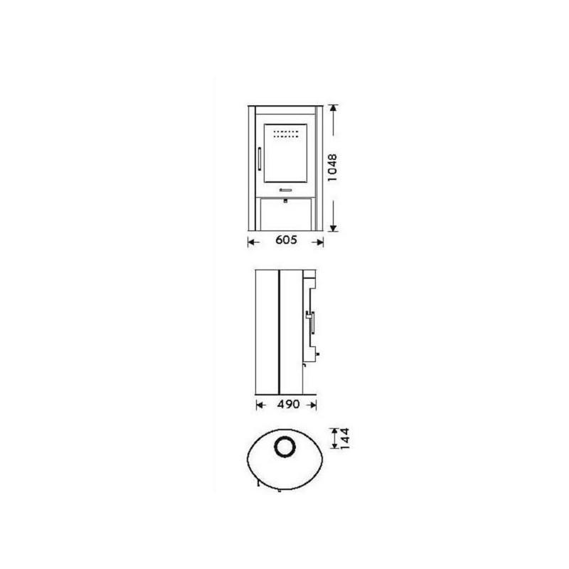 dimensiones estufa oval 1 stone ecodesing panadero