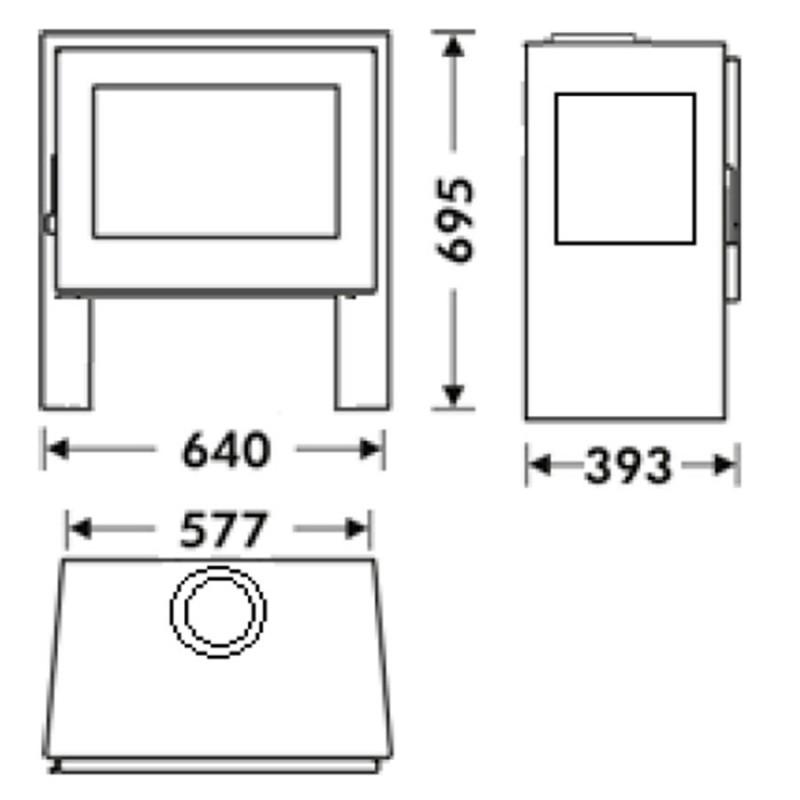 dimensiones estufa panadero a leña capri 3v ecodesign
