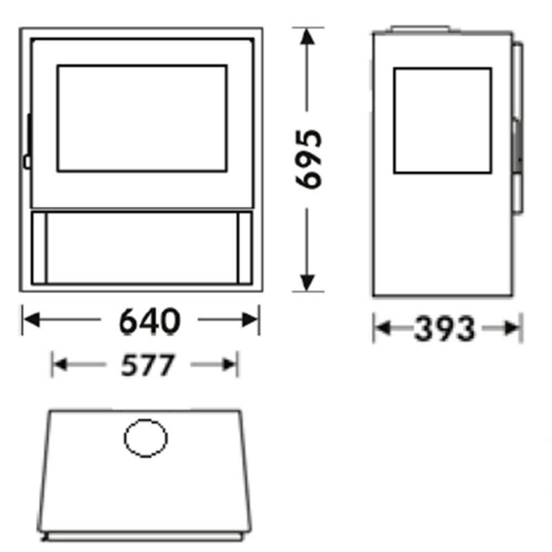 dimensiones estufa a leña java 3v ecodesign panadero