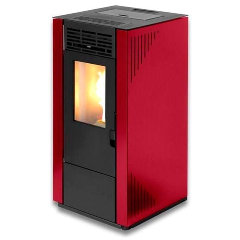 Estufa de pellets Tectro TBH 570-2 Rojo