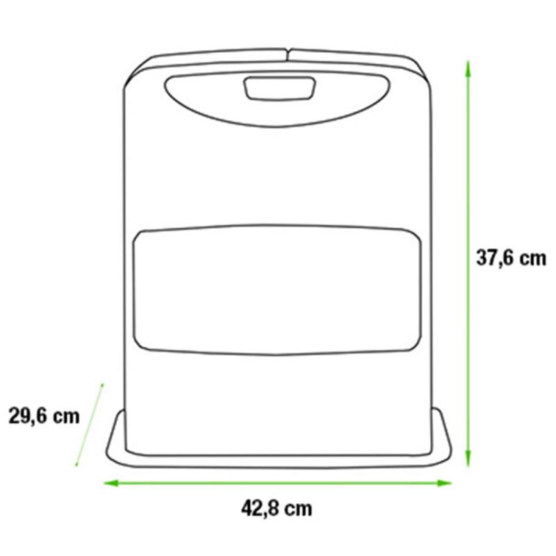 Estufa parafina LC-30 medidas